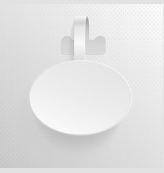 isolated empty white advertising plastic oval vector image