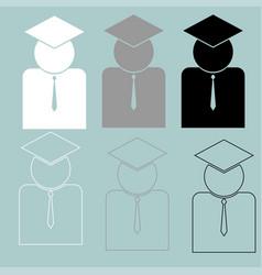 teacher or scientific with tie icon vector image