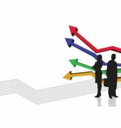 graph stripe vector image