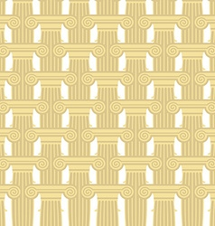 Greek Column seamless pattern background of vector image