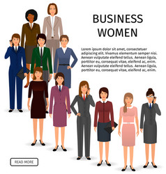 international business woman team group of office vector image vector image