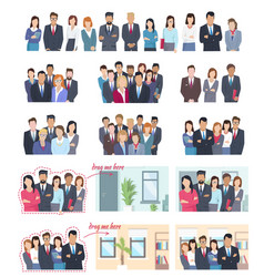 office employees big collection vector image vector image