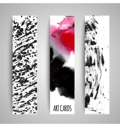 Paint texture cards set vector image vector image