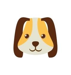 puppy face ear long brown pet vector image vector image