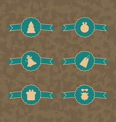 Set Christmas decoration vintage labels vector image vector image