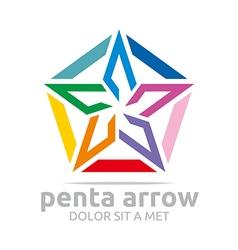 star symbol pentagon design vector image vector image