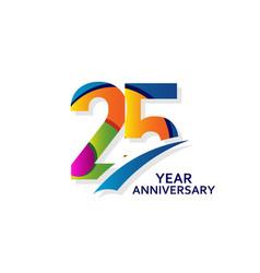25 years elegant anniversary celebration template vector