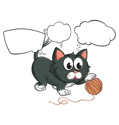 A black cat and the empty callouts vector image