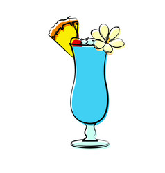 Abstract delicious cocktail vector