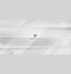 abstract geometric gray and white gradient color vector image