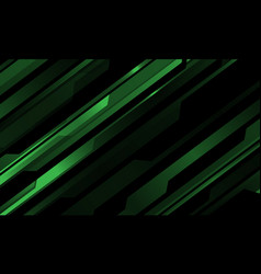 Abstract green metallic cyber pattern on black vector