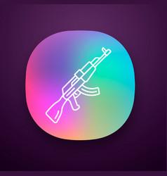 Akm weapon app icon icon virtual video game vector