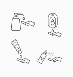 Alcohol gel hand wash gel gel tube pump hand wash vector