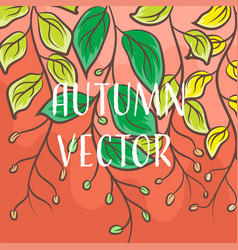 Autumn nature drawing concepts vector
