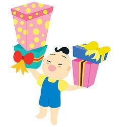 babys birthday vector image