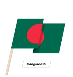 Bangladesh Ribbon Waving Flag Isolated on White vector image