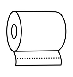 Bathroom toilet tissue paper roll line art icon vector