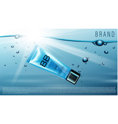 Blank plastic cosmetic cream tubes vector