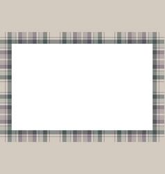 border frame vintage background plaid pattern vector image
