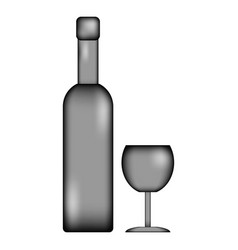 Bottle and glasse icon sign vector