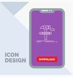 build design develop tool tools line icon in vector image