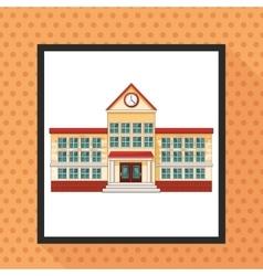 Building clock school design vector