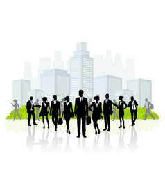 Business team silhouette vector