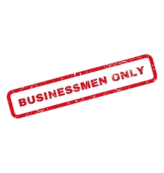 Businessmen Only Text Rubber Stamp vector