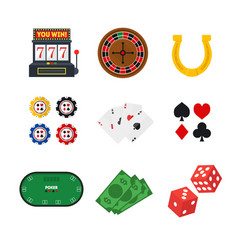cartoon casino set vector image