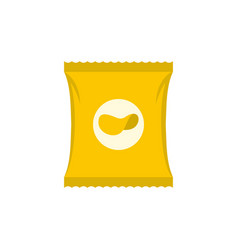 chips icon flat style vector image