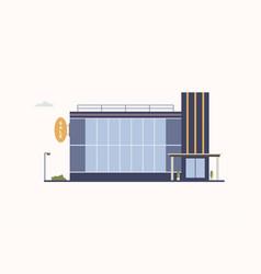 City building of trade center or shopping mall vector