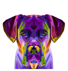 colorful cane corso dog on pop art style vector image