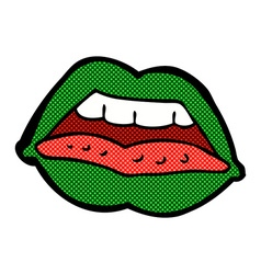 comic cartoon sexy halloween lips symbol vector image vector image
