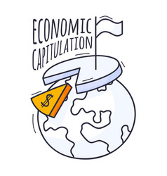 concept an economic crisis is hand-drawn vector image
