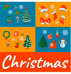 concept xmas card isolated icon cartoon style for vector image