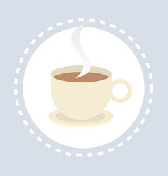 cup coffee shopping icon hot drink shop concept vector image