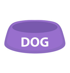 Dog bowl for food icon flat cartoon style vector