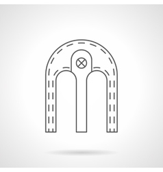 Double arch flat line icon vector