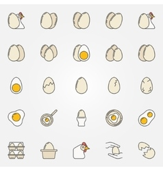 Egg icons collection vector