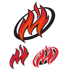 fast fire letter m logo vector image