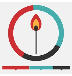 Fire infographic vector