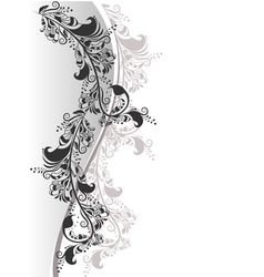 Floral composition from white and black 2 vector