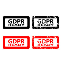 gdpr ready - rubber stamp vector image