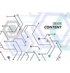 geometric abstract background with hexagons vector image