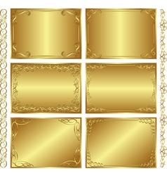 Golden backgrounds vector