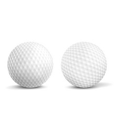 Golf balls isolated realistic vector