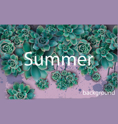 green background beautiful card with vector image