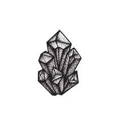 Hand drawn crystals vector