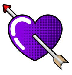 heart with arrow insede vector image