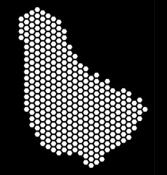 Hexagonal barbados map vector